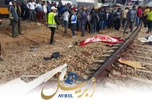 Photo of مشاهد مؤلمة من فاجعة قطار بوقنادل